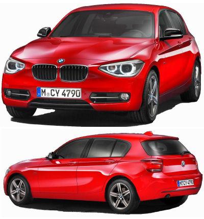 En 2012, BMW présente sa nouvelle génération de Série 1. Si la forme générale reste similaire avec la génération précédente, on note un style plus moderne, avec des optiques avant plus grandes, rejetées sur les bords du bouclier.<br> BMW a fait des efforts pour augmenter l'habitabilité de sa Série 1, ainsi qu'au niveau des motorisations: les puissances des moteurs sont en hausse, et leur consommations en forte baisse. <br> BMW introduit deux lignes distinctes de Série 1: la ligne Urban et la Ligne Sport. Chacune de ses lignes se différencie par des détails esthétiques différents, ainsi que des possibilités de personnalisation distinctes.